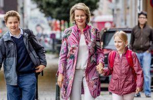 Philippe et Mathilde de Belgique : La rentrée séparée de leurs enfants