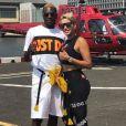 Blaise Matuidi en vacances à New York avec sa femme Isabelle. Instagram, le 6 août 2018.