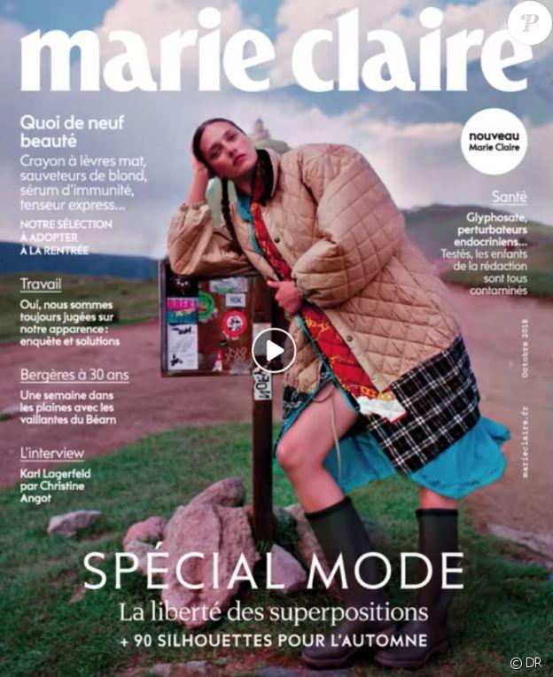 Marie Claire, en kiosques ce 5 septembre 2018.