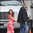 """Eva Longoria et Tony Parker, lors du tournage de """"Desperate Housewives"""", le 1er mai 2009, au Studio Universal de Los Angeles !"""