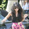 Vanessa Hudgens arrive chez des amis pour un déjeuner à Los Angeles, le 30 avril 2009 !