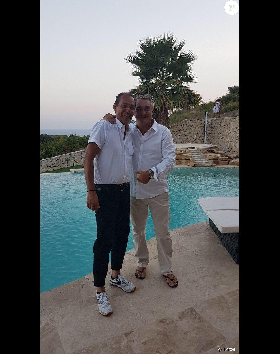 Denis Balbir et Jean-Marc Ferreri, photo publiée sur Twitter en août 2018