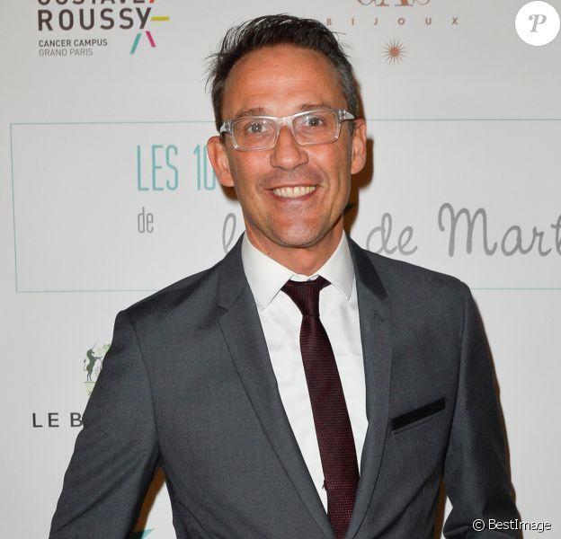 Julien Courbet lors de l'anniversaire des 10 ans de l'Etoile de Martin à l'hôtel Le Bristol à Paris. L'association soutient la recherche sur les cancers de l'enfant et offre des moments de plaisir et de détente à des enfants hospitalisés. Paris, le 30 mars 2017.