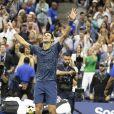 Novak Djokovic, vainqueur de l'US Open de Tennis 2018 à New York, le 9 septembre 2018.