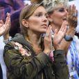 Jelena Djokovic assiste à la finale de son mari Novak Djokovic à l'US Open de Tennis 2018 à New York, le 9 septembre 2018.