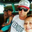 Wendy, sa chérie Lolita, Pascal et sa femme, en vacances en Thailande, avril 2017.