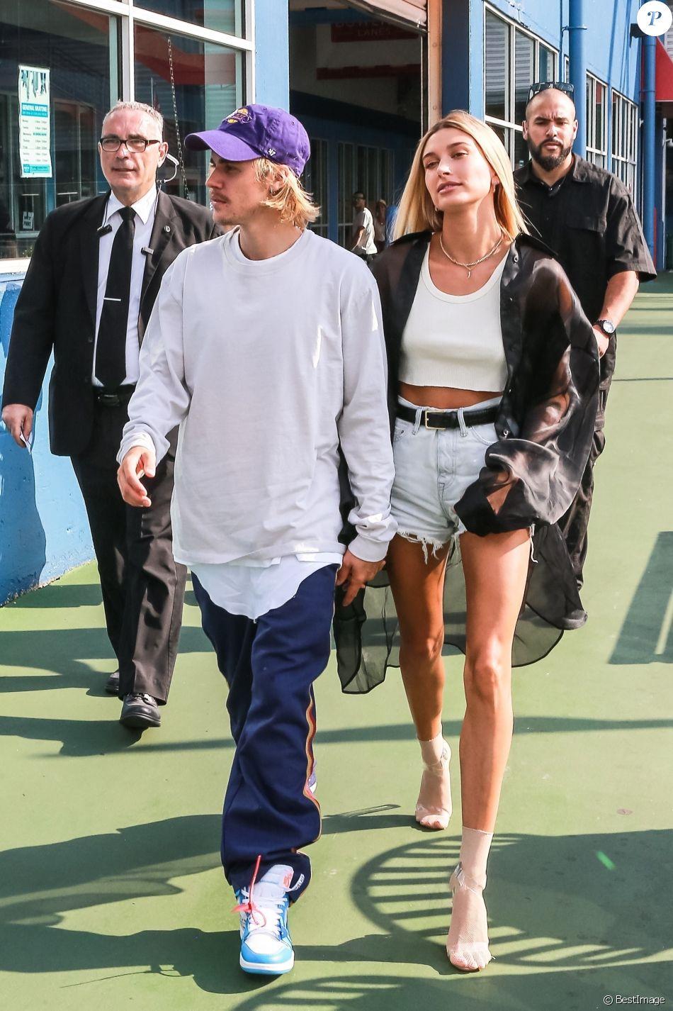 Justin Bieber et sa fiancée Hailey Baldwin se rendent au défilé John Elliot Fashion lors de la Fashion Week de New York City, New York, Etats-Unis, le 6 septembre 2018.