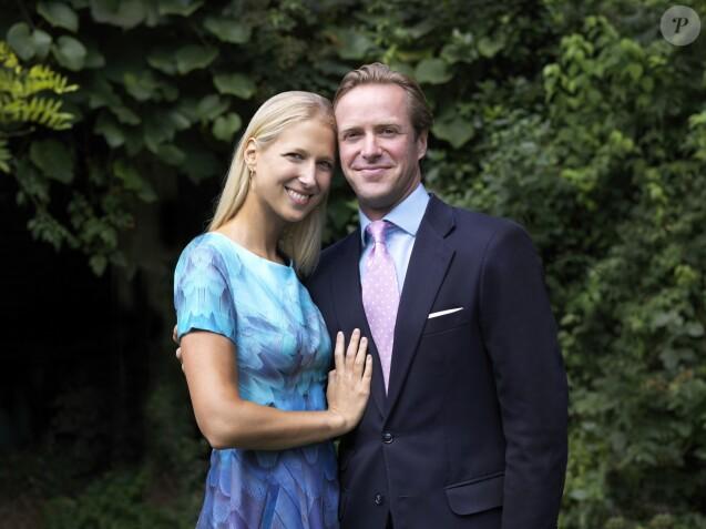 Lady Gabriella Windsor et Thomas Kingston, photo diffusée par le palais de Buckingham à l'occasion de leurs fiançailles, nouées en août 2018 et annoncées le 19 septembre 2018. ©Alexandra Diez de Rivera/PA Wire/Abacapress.com