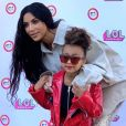 Exclusif - Kim Kardashian et sa fille North West lors du LOL Kids Fashion Show à Los Angeles le 22 septembre 2018.