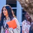 Exclusif - Kim Kardashian accompagne sa fille North West à un défilé à Pacific Palisades le 22 septembre 2018.