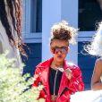 Exclusif - Kim Kardashian accompagne sa fille North West à un défilé à Pacific Palisades le 22 septembre 2018.