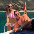 Florian Thauvin et sa compagne Charlotte Pirroni en vacances en juillet 2018, photo Instagram.