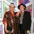 Riley Buss (droite) au 49ème gala d'anniversaire annuel LA LGBT à l'hôtel Beverly Hilton à Beverly Hills, le 23 septembre 2018