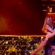 """Iris Mittenaere dans """"Danse avec les stars 9"""" sur TF1, le 29 septembre 2018."""