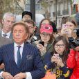 Valentino Garavani arrive au défilé Valentino prêt-à-porter printemps / été 2019 aux Invalides à Paris le 30 septembre 2018. © CVS / Veeren / Bestimage