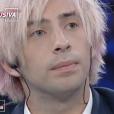 """Jimmy Bennett donne une interview exclusive sur le plateau de """"Non è l'Arena"""" sur la chaîne italienne LA7, dimanche 23 septembre 2018."""