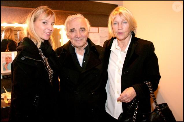 Charles Aznavour avec sa femme Ulla et sa fille Katia