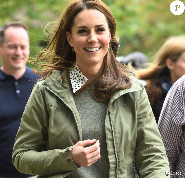 Kate Middleton au Sayers Croft Forest School and Wildlife Garden, Paddington Recreation Ground, Londres, le 2 octobre 2018.