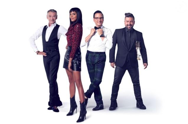 """Patrick Dupond, Shy'm, Jean-Marc Généreux et Chris Marques, photo officielle de """"Danse avec les stars 9"""", TF1"""