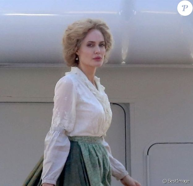 "Exclusif - Angelina Jolie - Tournage du film ""Come Away"" à Hollywood. Le 24 septembre 2018"