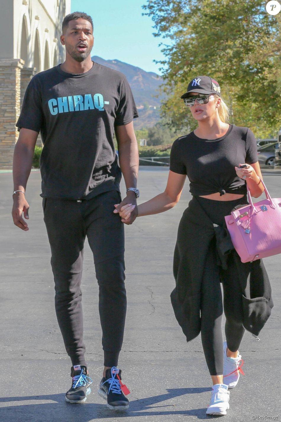 Exclusif - Khloe Kardashian et son compagnon Tristan Thompson sont allés voir le film White Boy Rick au cinéma à Calabasas. Le 16 septembre 2018.