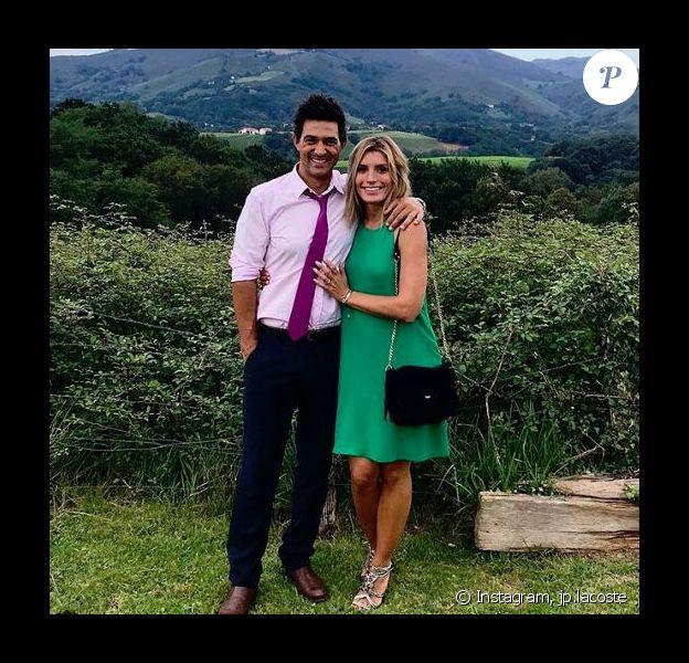 Jean-Pascal Lacoste et sa compagne Delphine Tellier - instagram, 2018