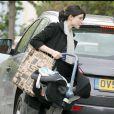 Sophie Ellis-Bextor et son fils Kit à Londres