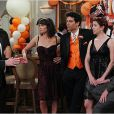 Josh Radnor, Cobie Smulders, Neil Patrick Harris, Jason Segel et Alyson Hannigan dans la saison 7 de How I Met Your Mother, 2011-2012.