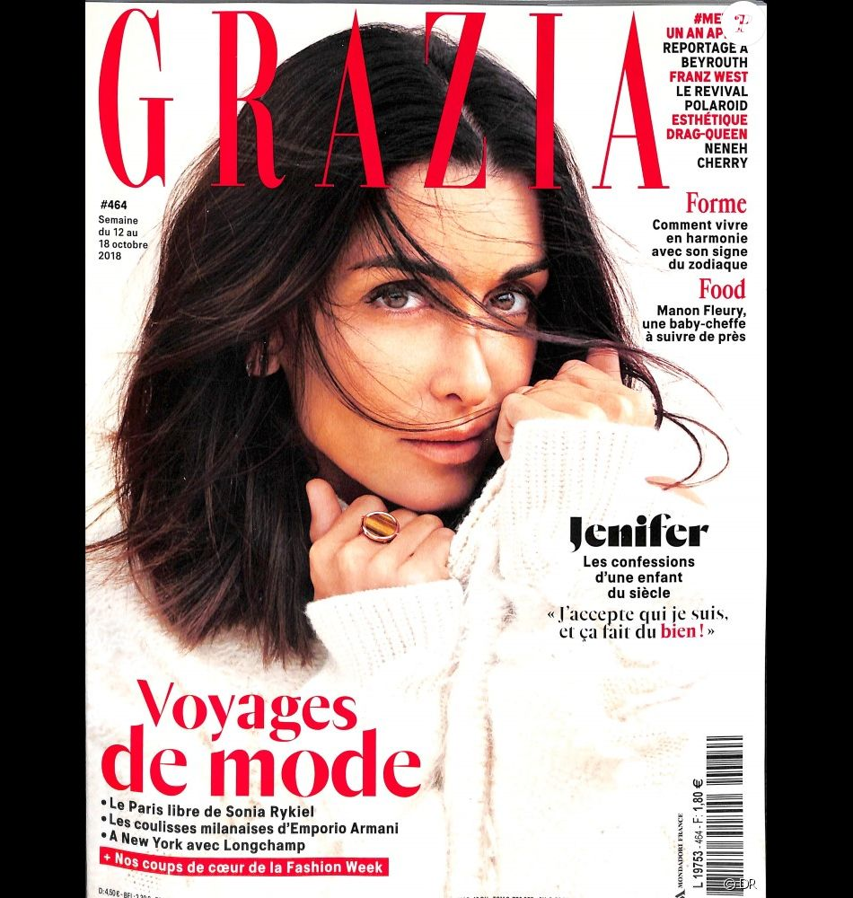couverture du magazine grazia en kiosque le 12 octobre 2018 purepeople. Black Bedroom Furniture Sets. Home Design Ideas