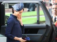 Mariage de la princesse Eugenie : Meghan Markle élégante en bleu marine
