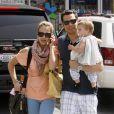 Jessica Alba avec son mari Cash et sa fille Honor Marie