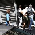 Les suspects dans l'affaire du meurtre d'Hélène Pastor arrivent au palais de justice de Marseille, le 27 juin 2014.