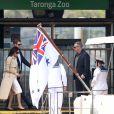 Le prince Harry et Meghan Markle arrivent sur le quai d'embarquement Man O'War Steps à Sydney, Australie, le 16 octobre 2018