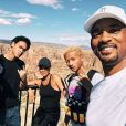 Will, Jada Pinkett Smith, Willow, Jaden et Trey Smith. Septembre 2018.