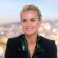 Laeticia Hallyday face à Anne-Claire Coudray dans le journal télévisé de TF1, vendredi 19 octobre 2018.