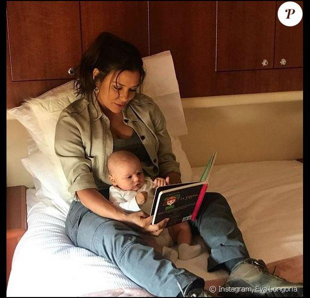 Eva Longoria et son fils Santi. Octobre 2018.
