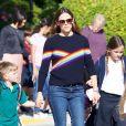 Jennifer Garner est allée chercher ses enfants Seraphina et Samuel à l'école à Santa Monica, le 23 octobre 2018
