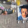 Mémorial pour le rappeur XXXTentacion, qui a été abattu (le 18 juin) alors qu'il quittait un concessionnaire de motos à Deerfield Beach, Floride, Etats-Unis, le 23 juin 2018.