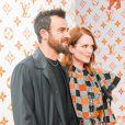 Justin Theroux et Julianne Moore - Soirée d'inauguration du pop-up store dédié à la collaboration 'Louis Vuitton x Grace Coddington. New York, le 25 octobre 2018.