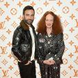 Nicolas Ghesquière et Grace Coddington - Soirée d'inauguration du pop-up store dédié à la collaboration 'Louis Vuitton x Grace Coddington. New York, le 25 octobre 2018.