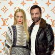 Riley Keough et Nicolas Ghesquière Soirée d'inauguration du pop-up store dédié à la collaboration 'Louis Vuitton x Grace Coddington. New York, le 25 octobre 2018.