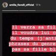 Emilie Fiorelli annonce sa rupture définitive avec M'baye Niang sur Instagram le 25 octobre 2018.