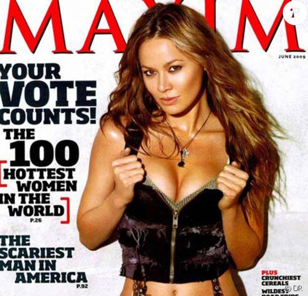 Moon Bloodgood en couverture de Maxim (USA, juin 2009)