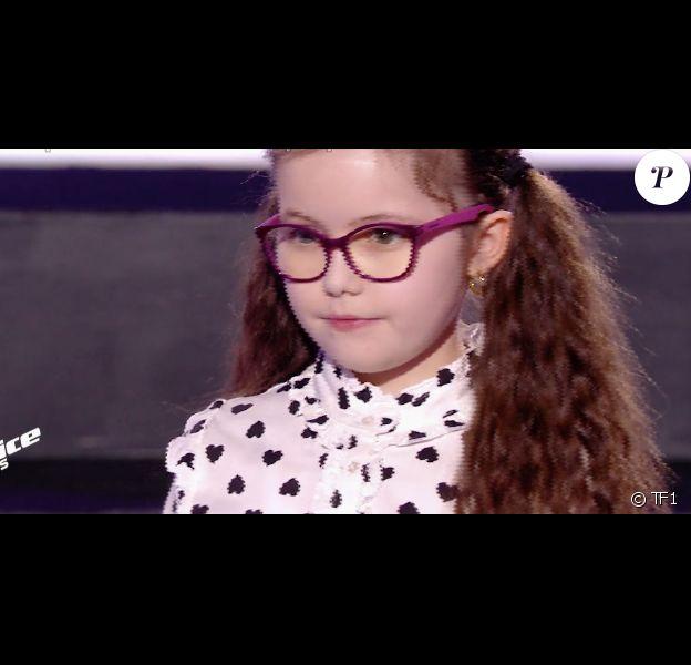 """Emma dans """"The VoiceKids 5"""" sur TF1, le 9 novembre 2018."""
