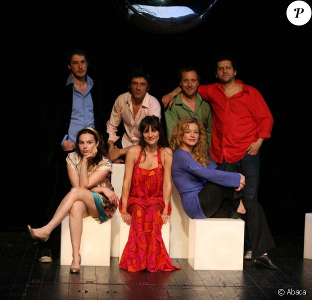 Dominique Guillo, Anne Suarez, Toinette Laquiere, Fabio Zenoni, Stephan-Guerin Tille, Alexandra London et Denis Sebbah dans l'Effet Papillon le 12 mai 2009 au Théâtre Marigny à Paris