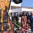 Le prince Charles participe à une réunion sur les matières plastiques à Accra lors de son voyage au Ghana le 5 novembre 2018.