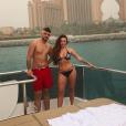 Jesy Nelson et Harry James lors de vacances aux Emirats arabes unis en mai 2018