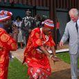Le prince Charles en visite au British Council Arts Festival à Lagos au Nigeria le 7 novembre 2018