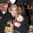 Kathrin Glock, Naomi Campbell - Ouverture du traditionnel marché de Noël de Henndorf près de Salzbourg en Autriche le 13 novembre 2018.