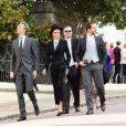 Cara Delevingne - Arrivées des invités au mariage de la princesse Eugenie d'York et de Jack Brooksbnak à la chapelle Saint George de Windsor le 12 octobre 2018.